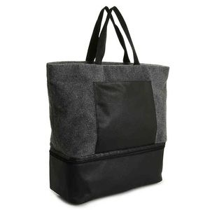 DSW felt tote with shoe compartment